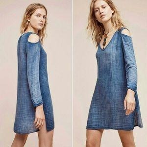 Anthropologie Cloth & Stone Cold Shoulder Dress